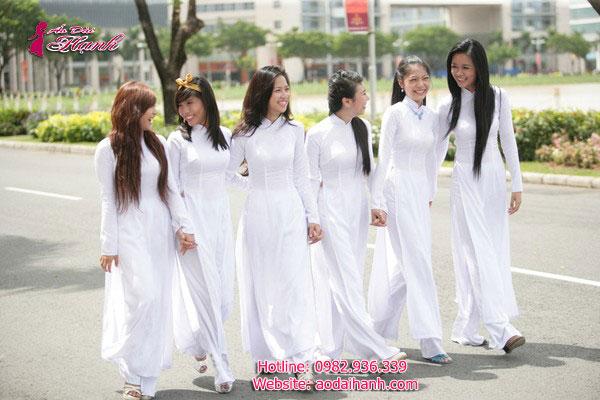May áo dài học sinh 5
