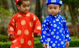 Áo dài Tết cho trẻ em