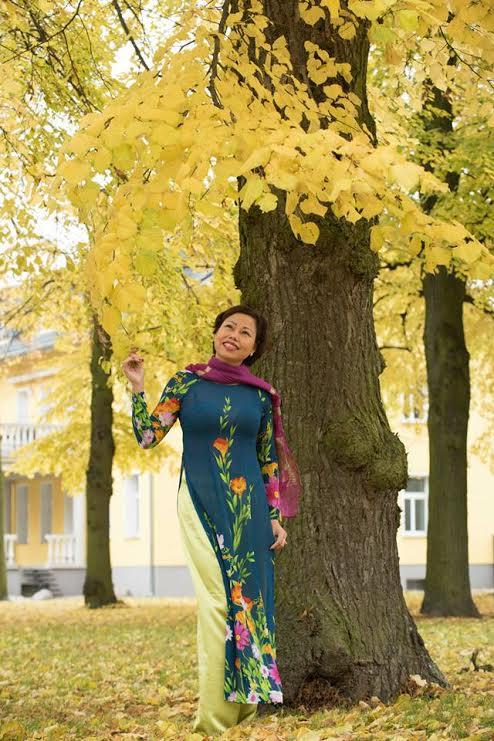 Áo dài mùa thu 05
