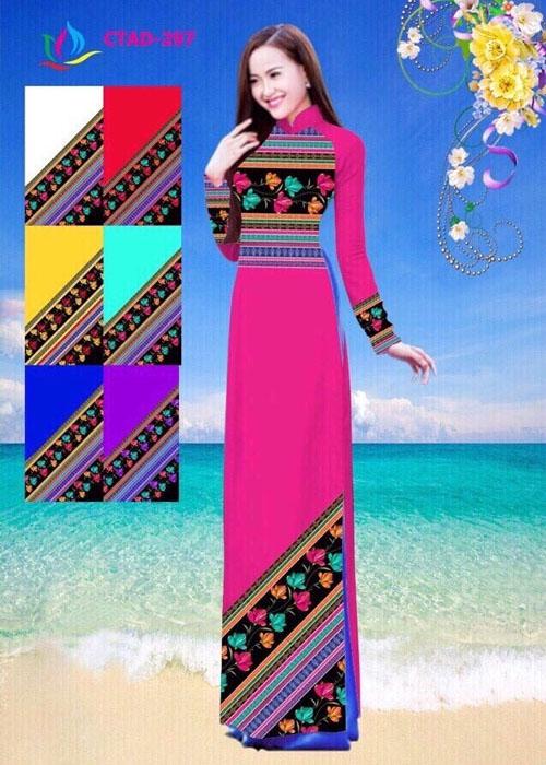 Vải áo dài truyền thống in 3D in 3D mã số CTAD-297
