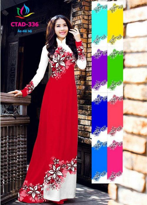 Vải áo dài truyền thống in 3D in 3D mã số CTAD-336