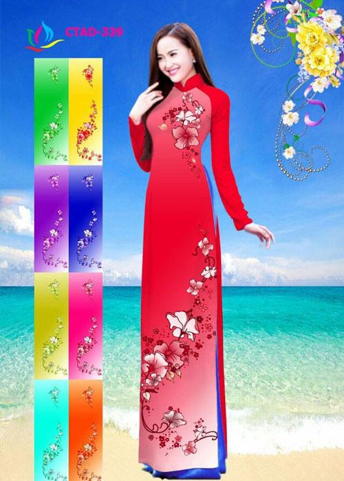 Vải áo dài truyền thống in 3D in 3D mã số CTAD-339