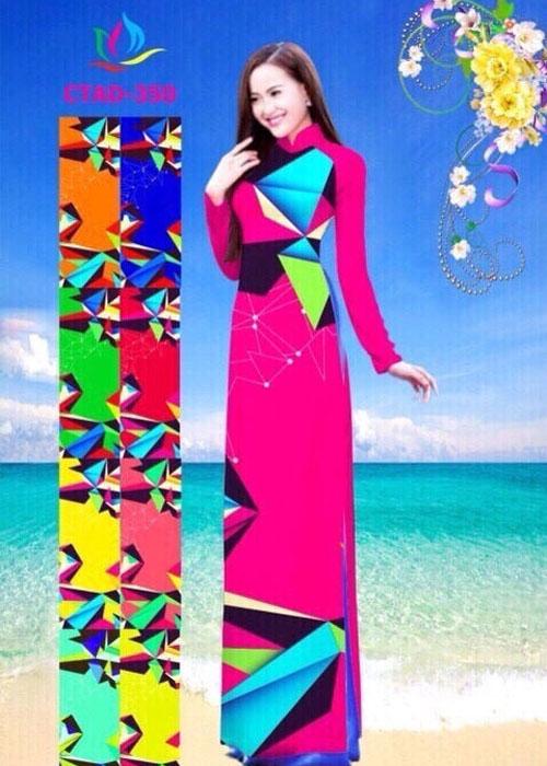 Vải áo dài truyền thống in 3D in 3D mã số CTAD-350