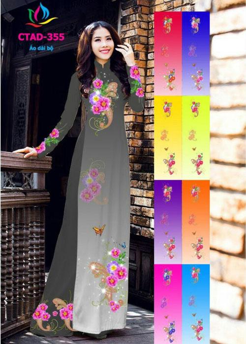 Vải áo dài truyền thống in 3D in 3D mã số CTAD-355