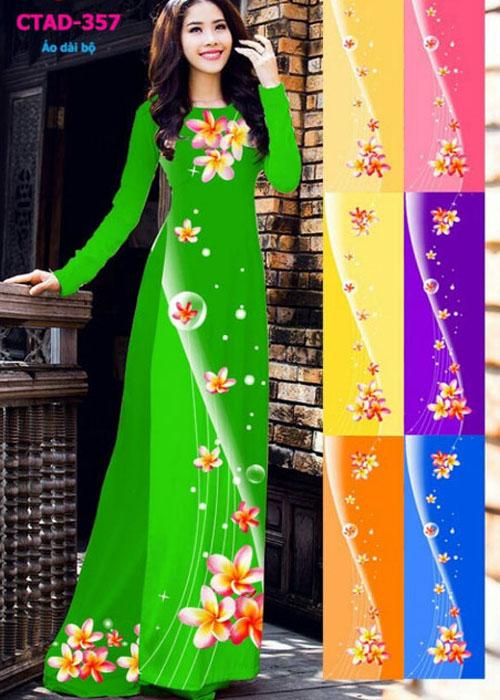 Vải áo dài truyền thống in 3D in 3D mã số CTAD-357