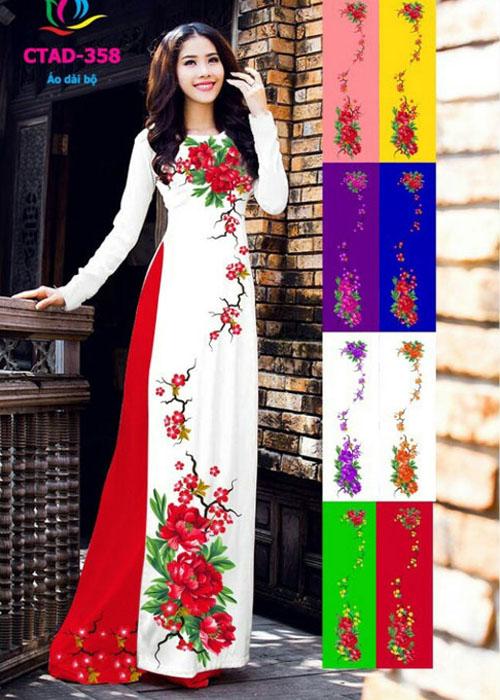 Vải áo dài truyền thống in 3D in 3D mã số CTAD-358