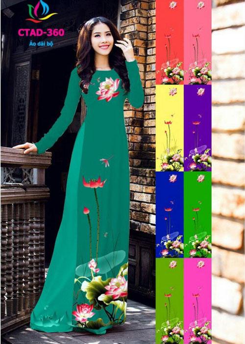 Vải áo dài truyền thống in 3D in 3D mã số CTAD-360