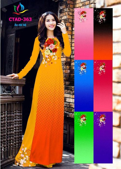 Vải áo dài truyền thống in 3D in 3D mã số CTAD-363