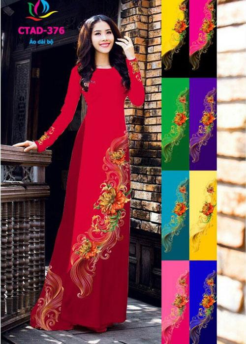 Vải áo dài truyền thống in 3D in 3D mã số CTAD-376