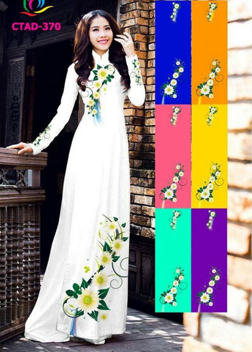 Vải áo dài truyền thống in 3D in 3D mã số CTAD-378
