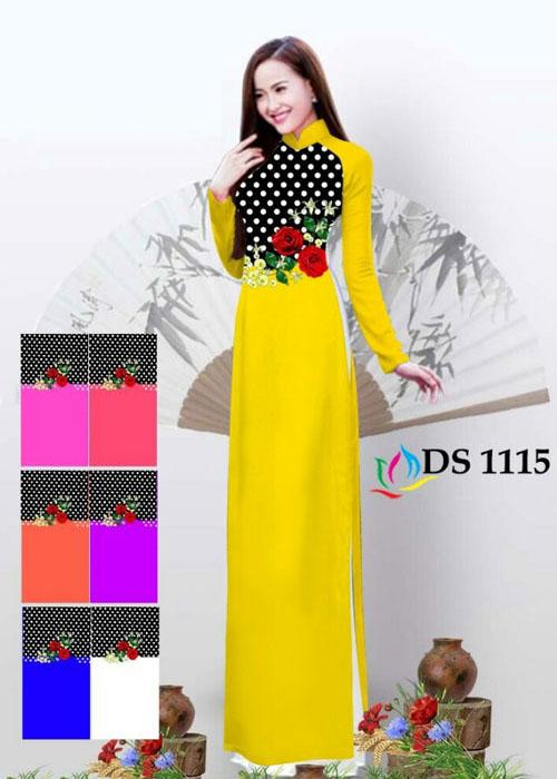 Vải áo dài truyền thống in 3D in 3D mã số DS-1115
