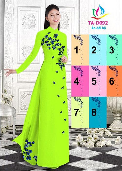 Vải áo dài truyền thống in 3D in 3D mã số TA-D092