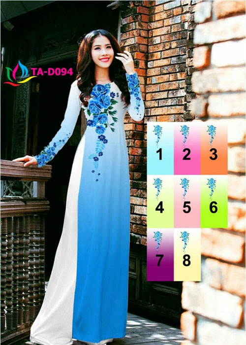 Vải áo dài truyền thống in 3D in 3D mã số TA-D094