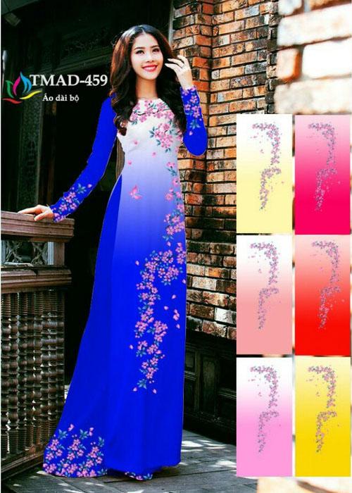 Vải áo dài truyền thống in 3D in 3D mã số TMAD-459
