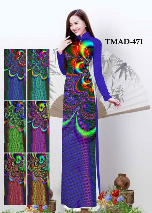 Vải áo dài truyền thống in 3D in 3D mã số TMAD-471