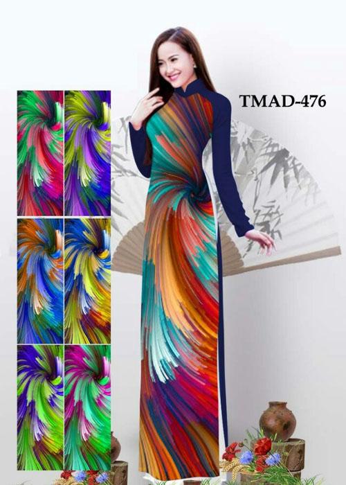 Vải áo dài truyền thống in 3D in 3D mã số TMAD-476