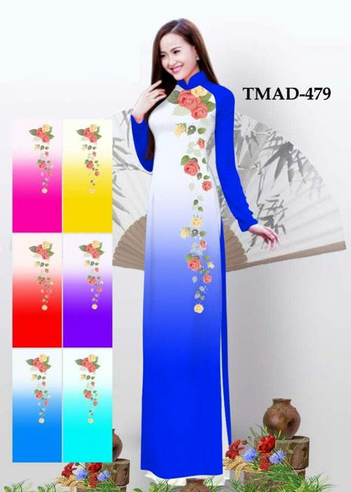 Vải áo dài truyền thống in 3D in 3D mã số TMAD-479