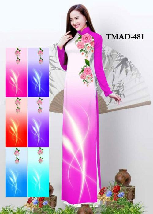 Vải áo dài truyền thống in 3D in 3D mã số TMAD-481
