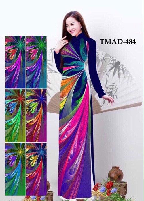 Vải áo dài truyền thống in 3D in 3D mã số TMAD-484