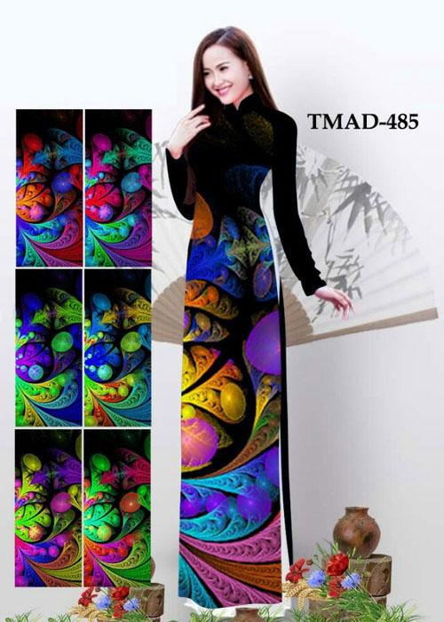 Vải áo dài truyền thống in 3D in 3D mã số TMAD-485