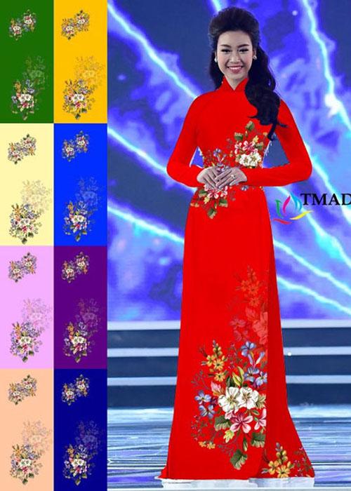 Vải áo dài truyền thống in 3D in 3D mã số TMAD-497