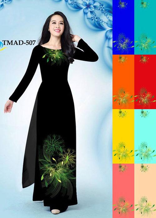Vải áo dài truyền thống in 3D in 3D mã số TMAD-507