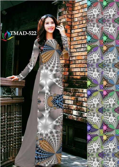 Vải áo dài truyền thống in 3D in 3D mã số TMAD-522