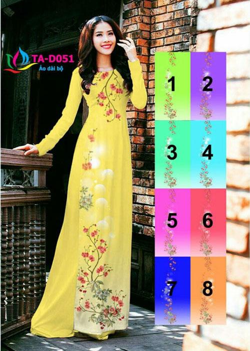 Vải áo dài truyền thống in 3D in 3D mã số TA-D051