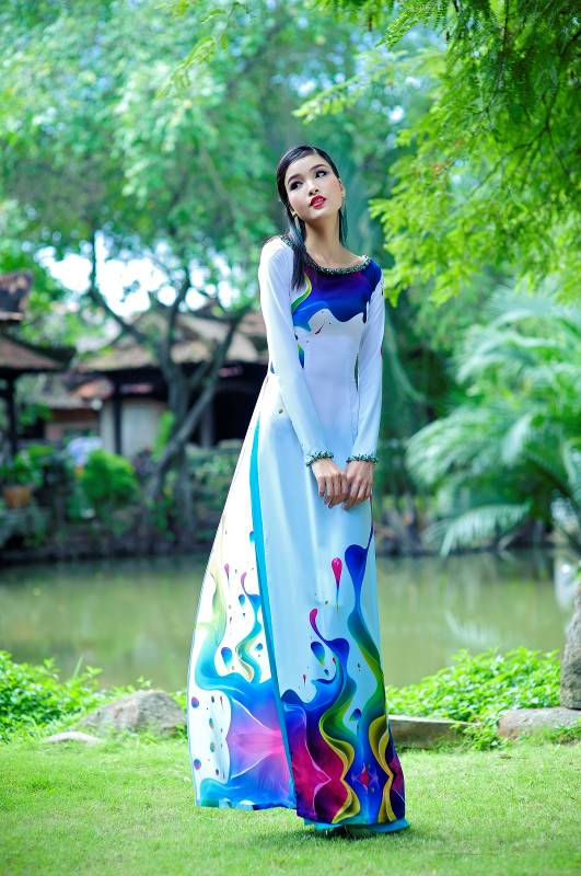 Áo dài in 3D vẻ đẹp truyền thống và hiện đại 04