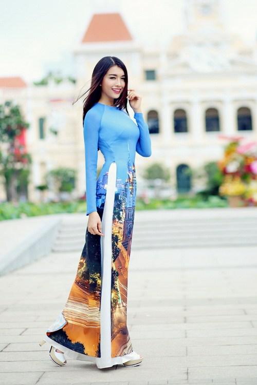 Áo dài in 3D vẻ đẹp truyền thống và hiện đại 02