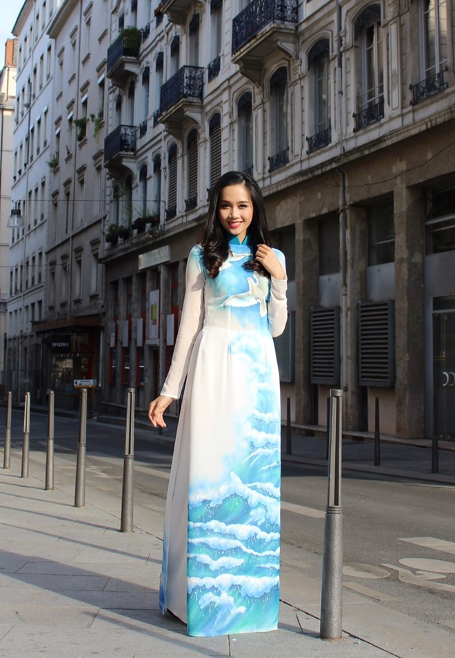 Áo dài in 3D vẻ đẹp truyền thống và hiện đại 06