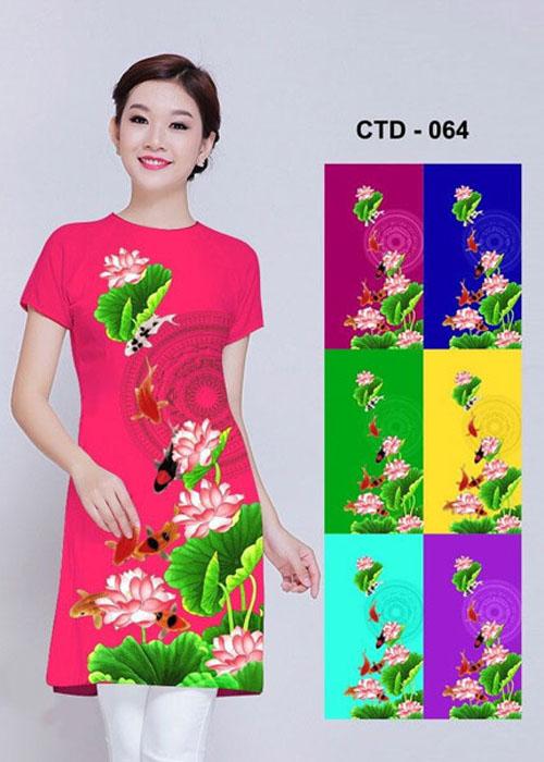 Vải áo dài cách tân in 3D in 3D mã số CTD-064