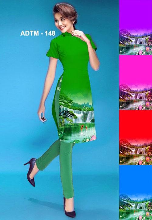 Vải áo dài cách tân in 3D in 3D mã số ADTM-148