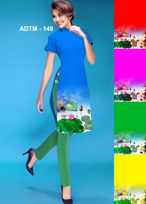 Vải áo dài cách tân in 3D in 3D mã số ADTM-149