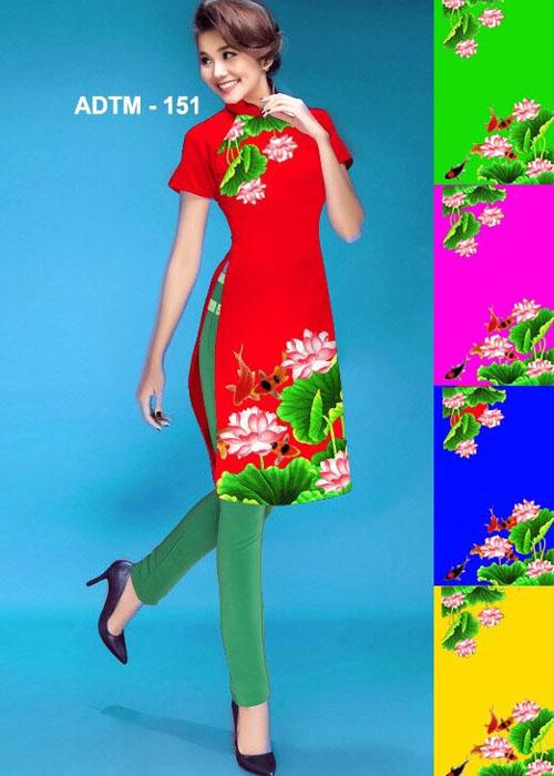 Vải áo dài cách tân in 3D in 3D mã số ADTM-151