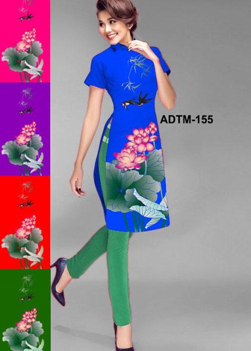 Vải áo dài cách tân in 3D in 3D mã số ADTM-155