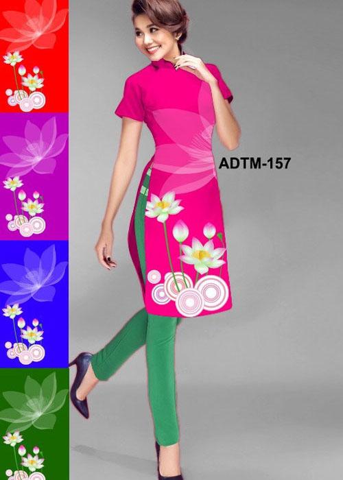 Vải áo dài cách tân in 3D in 3D mã số ADTM-157