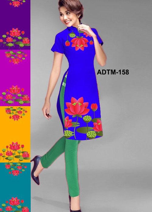 Vải áo dài cách tân in 3D in 3D mã số ADTM-158