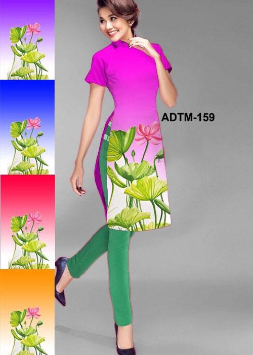 Vải áo dài cách tân in 3D in 3D mã số ADTM-159
