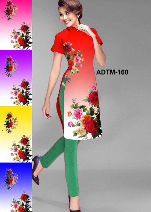 Vải áo dài cách tân in 3D in 3D mã số ADTM-160