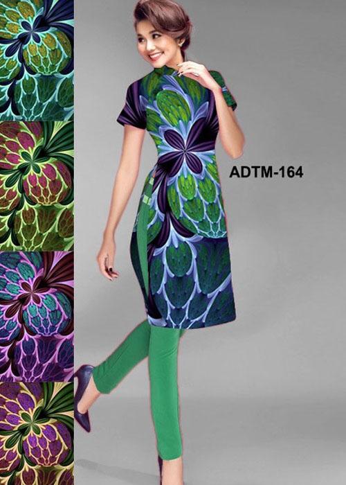 Vải áo dài cách tân in 3D in 3D mã số ADTM-164