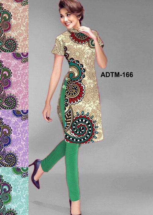 Vải áo dài cách tân in 3D in 3D mã số ADTM-166