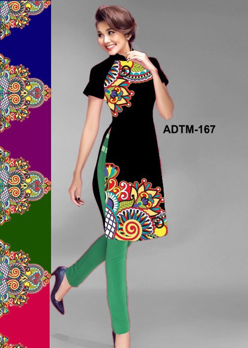 Vải áo dài cách tân in 3D in 3D mã số ADTM-167