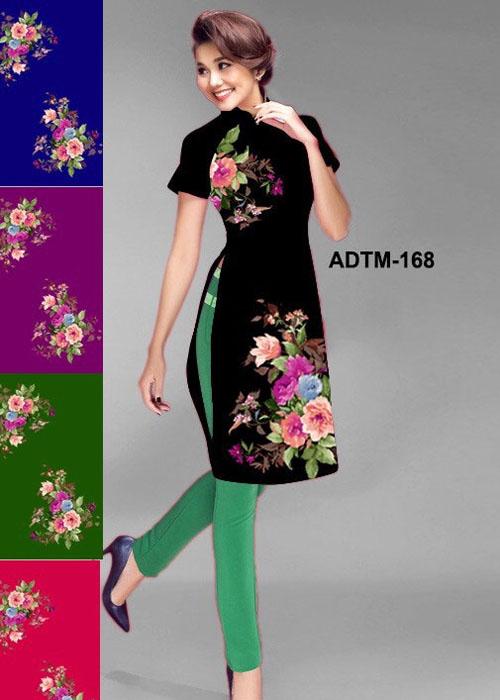Vải áo dài cách tân in 3D in 3D mã số ADTM-168