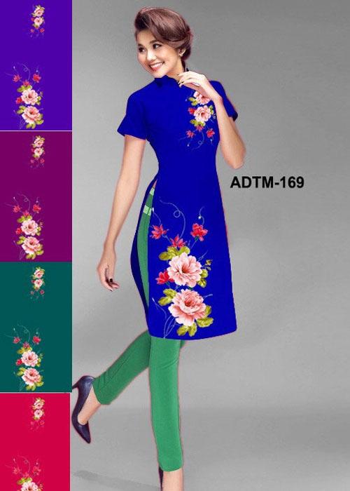 Vải áo dài cách tân in 3D in 3D mã số ADTM-169