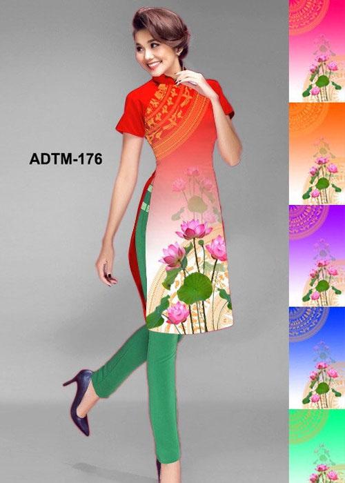 Vải áo dài cách tân in 3D in 3D mã số ADTM-176