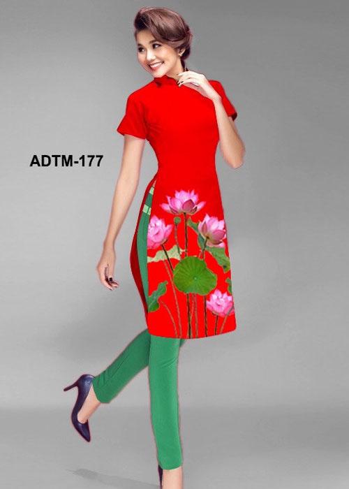 Vải áo dài cách tân in 3D in 3D mã số ADTM-177