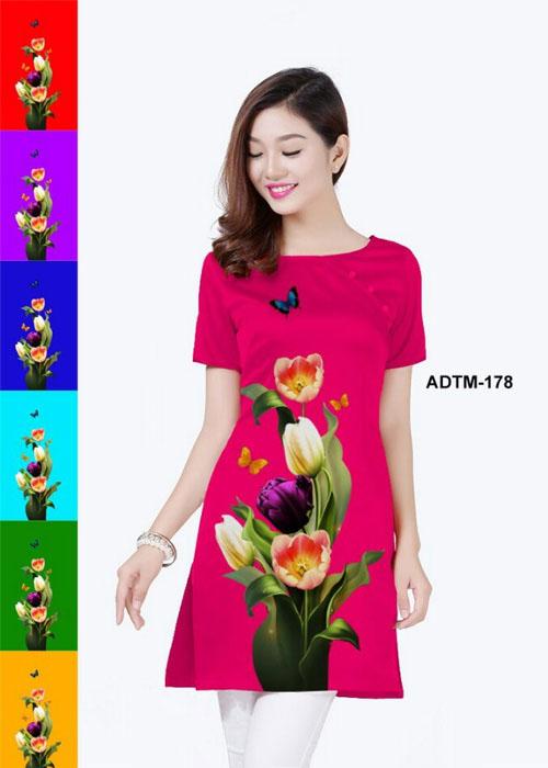 Vải áo dài cách tân in 3D in 3D mã số ADTM-178