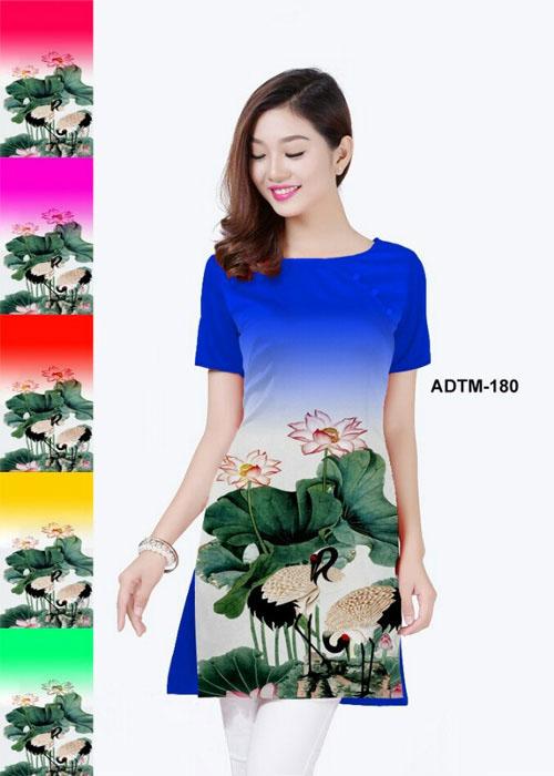 Vải áo dài cách tân in 3D in 3D mã số ADTM-180