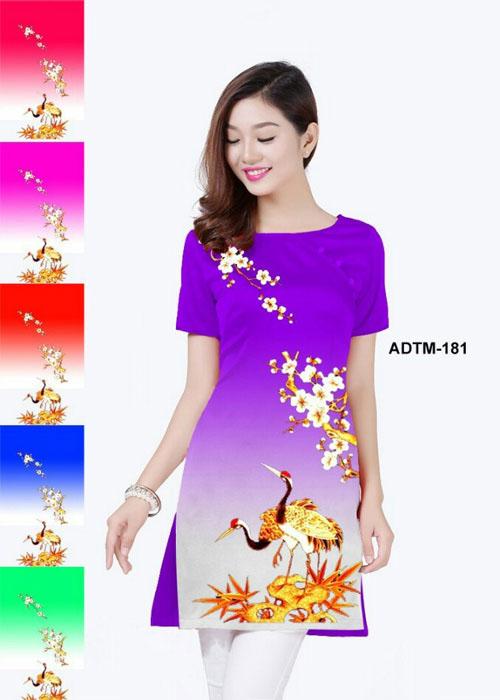 Vải áo dài cách tân in 3D in 3D mã số ADTM-181